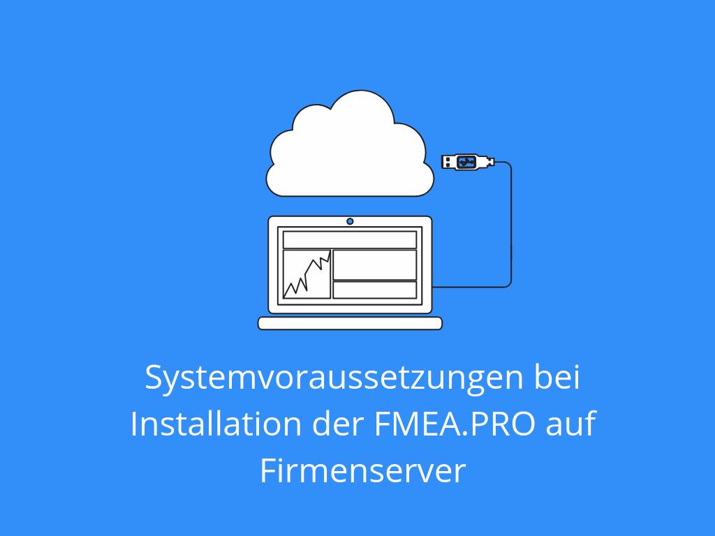Systemvoraussetzungen bei Installation der FMEA.PRO Software auf Firmenserver